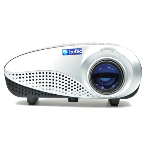 mini projetor led portatil betec 200 lumens