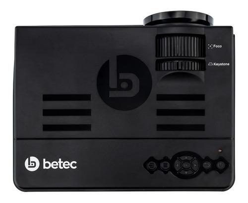 mini projetor led portatil betec - bluetooth - 1200 lumens