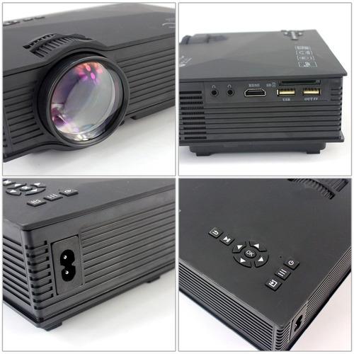 mini projetor led profissional 1200 lumen wifi miracast uc46