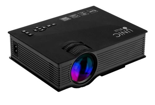 mini projetor led profissional 1200 lumen wifi miracast uc68