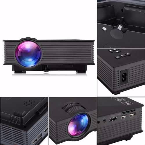 mini projetor led uc46 wifi 1200 lumens unic hdmi