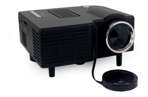 mini projetor portatil 80 pol hdmi c/ controle usb, sd, hdmi