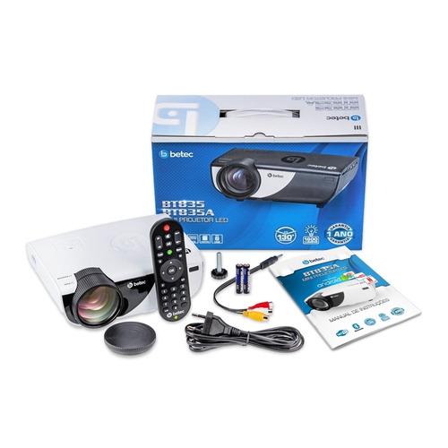 mini projetor portátil betec - 1600 lumens - android - wifi