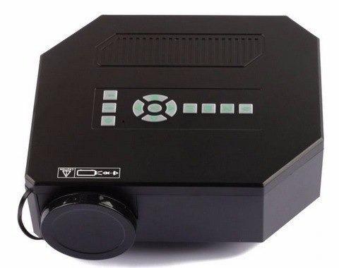 mini projetor portatil led 100pol 150lumes hdmi usb vga uc30