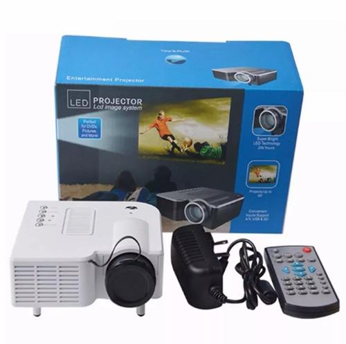 mini projetor portatil led 1920x1080 100pol usb/sd/hdmi h80