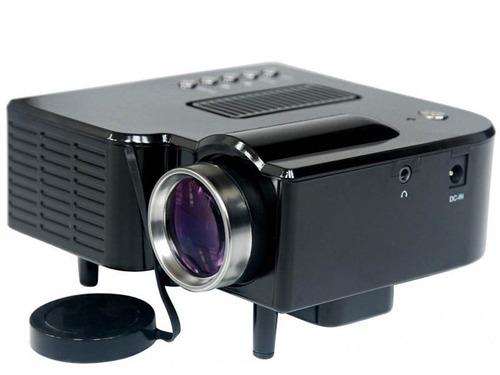 mini projetor portátil led - até 80 pol hdmi usb sd vga av