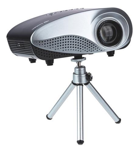 mini projetor portatil led betec - 200 lumens - mini tripé