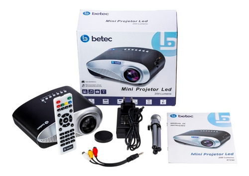 mini projetor portatil multimidia 200 lumens - betec brasil