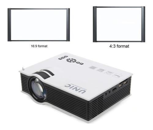 mini projetor uc40+ , pronta entrega tela 130 polegadas .