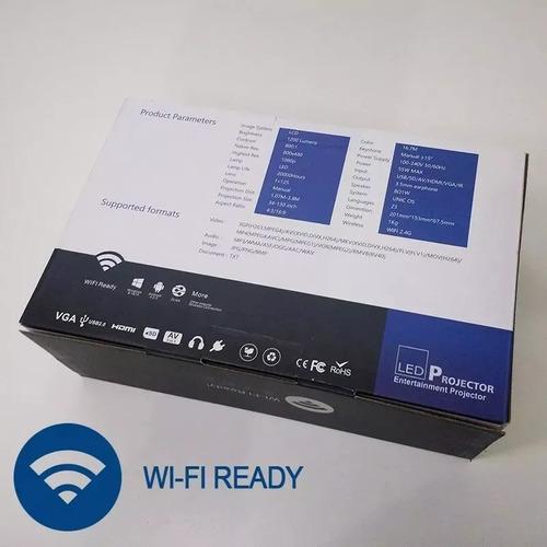 mini projetor uc46 led profissional 1200 lumen wifi miracast