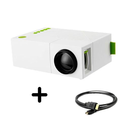 mini proyector 600 lumens 60 pulg + cable hdmi gratis