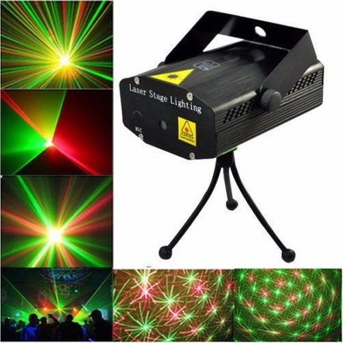 mini proyector disco luces led audioritmico