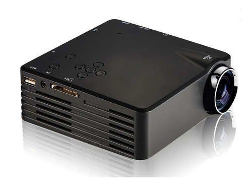 mini proyector led de 120 lumens proyección de 80 pulgadas
