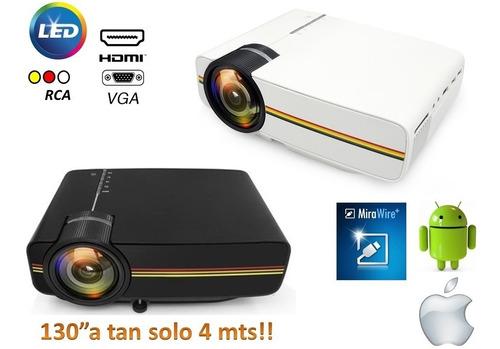 mini proyector led funcion espejo android/ios premium