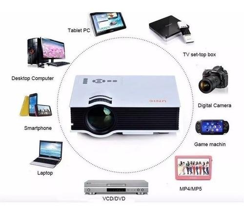 mini proyector led hd 1080p hdmi usb sd 130 pulgadas uc40