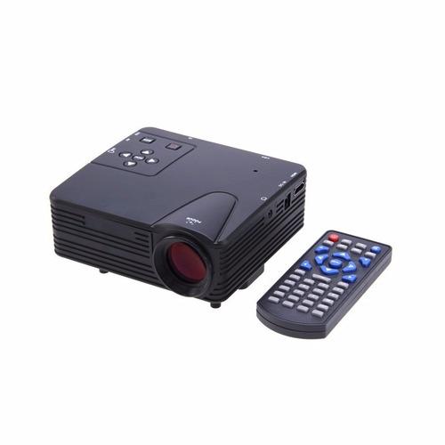 mini proyector led hd con ranura para micro sd