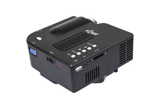 mini proyector led hd vga hdmi usb sd bocina cañon portátil