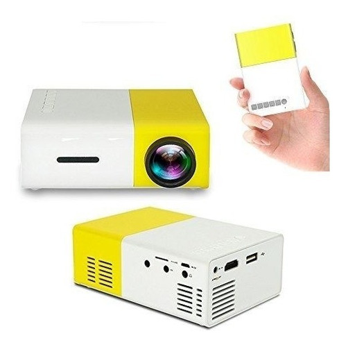 mini proyector led multimedia portatil hdmi usb micro sd av