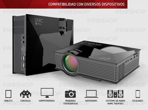 mini proyector led portatil 1200lm hdmi usb vga uc46+ 2019