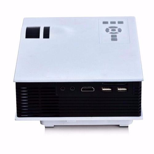 mini proyector led portatil 800 lumens hdmi usb 120 pulgadas