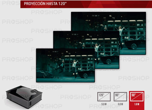 mini proyector led portatil full hd potente modelo nuevo con hdmi usb vga