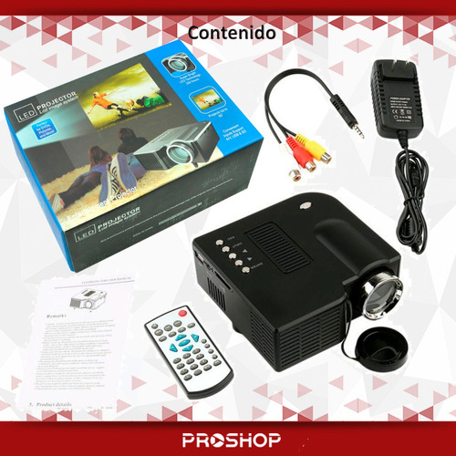 mini proyector led portatil hdmi - vga - usb 80 pulgadas a1