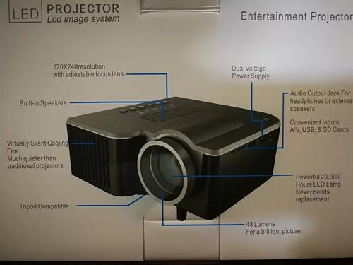 mini proyector led portatil hdmi vga usb sd / envio gratis