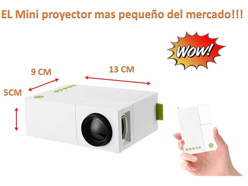 mini proyector led ultra pocket 600 lumens hdmi rca usb