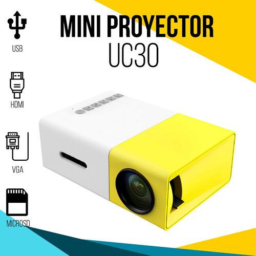 mini proyector led video beam portátil vga hdmi sd usb