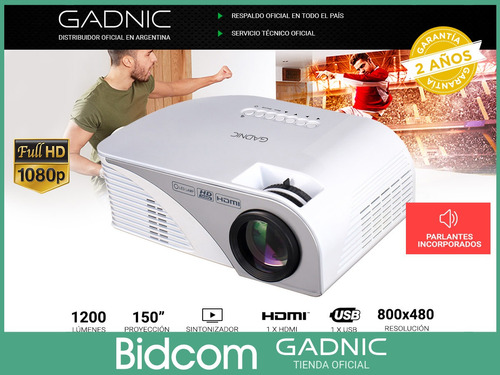mini proyector oficina usb hdmi 1200 lumens 140  1080p