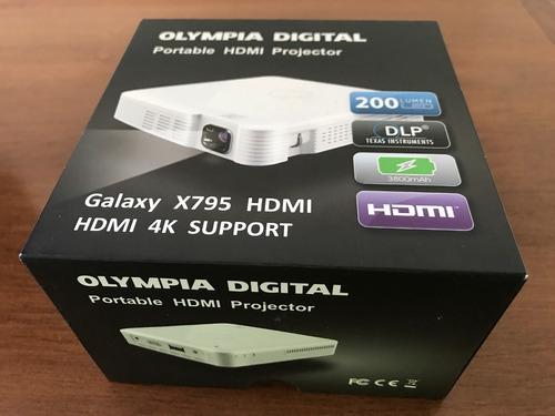 mini proyector olympia digital hdmi casi nuevo