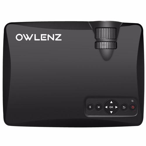 mini proyector owlenz portatil+ecran 100pulg