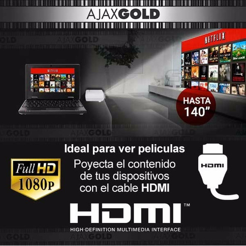 mini proyector portatil 1200 lumens tv led altavoz usb hdmi