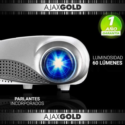 mini proyector portatil led 100 pulgadas vga hdmi usb sd tv
