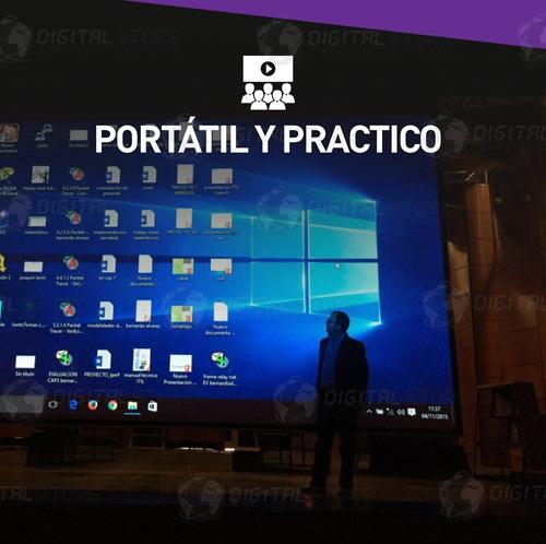 mini proyector portatil led full hd 100'' uc30 hdmi usb vga