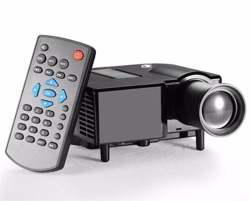 mini proyector portatil led uc28 sd usb / av vga / hdmi