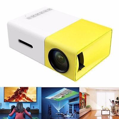 mini proyector portatil parlantes hdmi sd usb 400-600 lumens