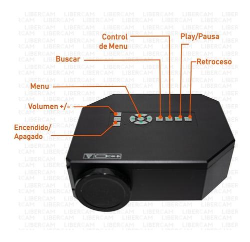 mini proyector portatil tv led 150l video usb vga uc30 hdmi
