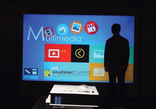 mini proyector uc40 800x480 vga, hdmi usb, pantalla 120 pulg