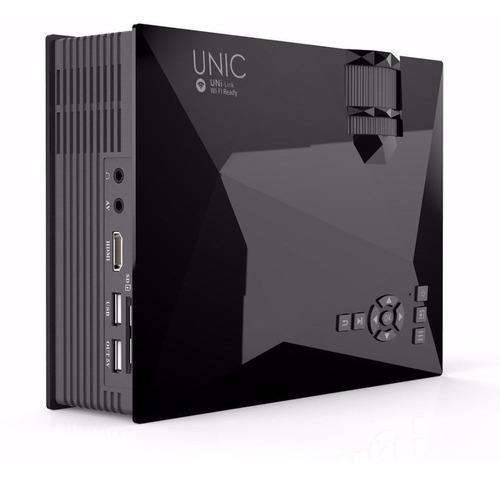 mini proyector unic uc46 wifi hdmi vga usb 1200 lumenes
