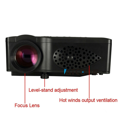 mini proyector video beam led atco 1500 lumens 1080p hd