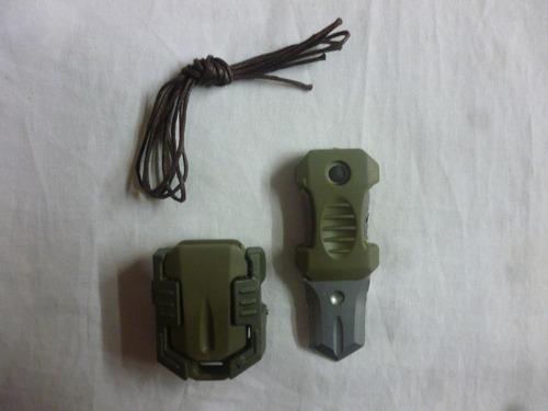 mini puñal militar táctico collar doble filo de bolsillo