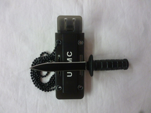 mini puñal militar táctico collar doble filo resistente