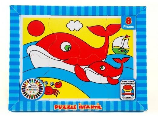 Dida Ballena Puzzles Infantiles Madera