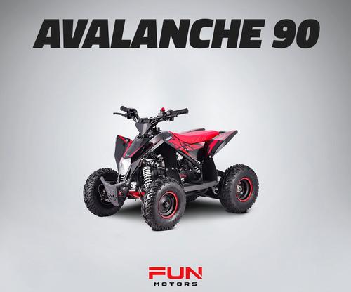 mini quadriciclo infantil fun motors avalanche 90cc