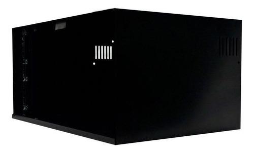 mini rack organizador 5u acrílica onix para dvr com bandeja