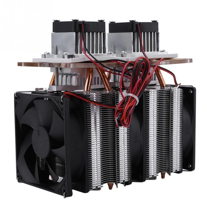 Mini Radiador Duplo144w 12v Peltier Water Block Cooler
