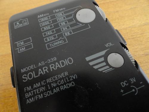 mini radio solar am fm portatil en olivos zwt