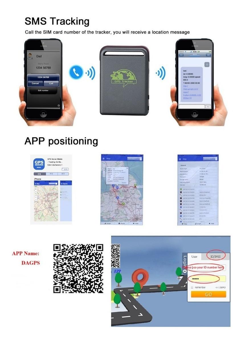 Mini Rastreador Gps Gprs Tracker Espião Localizador Tk102b