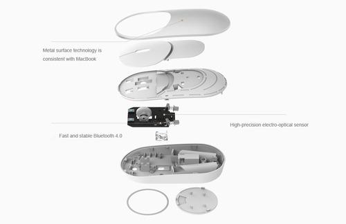 mini ratón sin hilos bluetooth 4.0 / 2.4g ( plata ) con rec